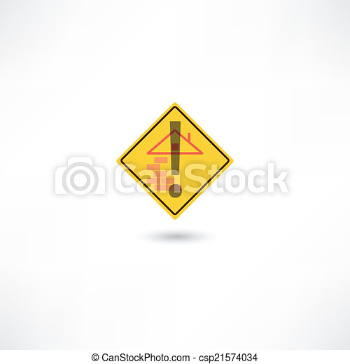 Warning construction - csp21574034