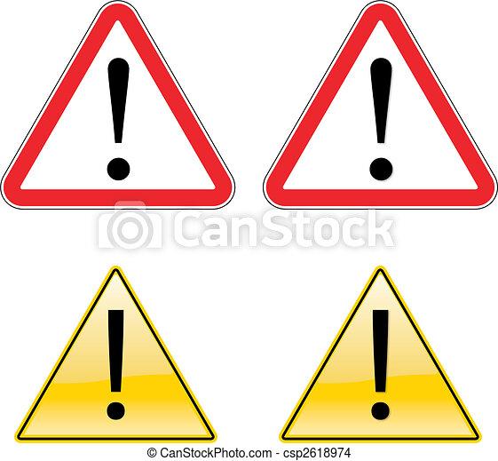Warning Exclamation Label Sign Symbol - csp2618974