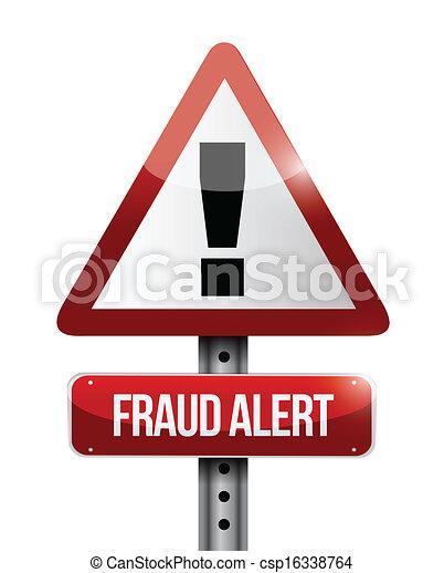 warning fraud alert road sign illustration design - csp16338764