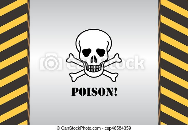 warning hazard signs warning sign of danger poison and dimensional