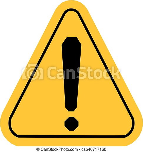 warning icons in yellow triangle exclamation point vector clip rh canstockphoto com