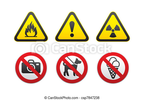 Warning & Prohibited Signs - csp7847238