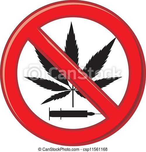 Warning Prohibiting Drug - csp11561168