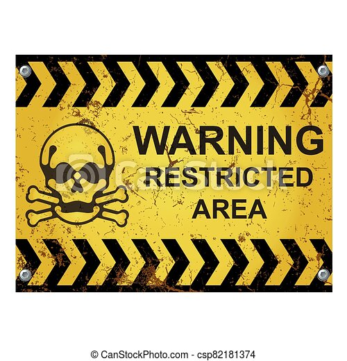 Warning restricted area sign - csp82181374