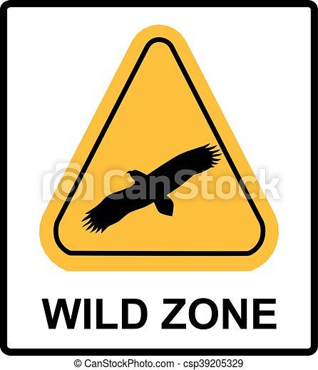 warning sign. danger signal with eagle. vector symbol - csp39205329