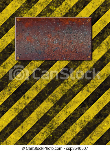 warning sign plaque - csp3548507