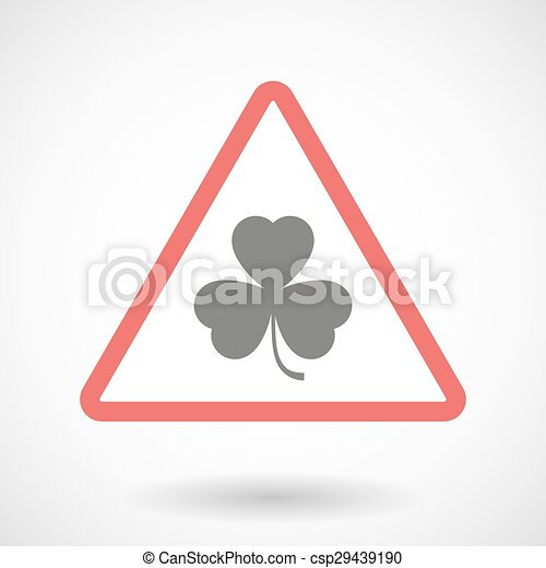 Warning signal with a clover - csp29439190