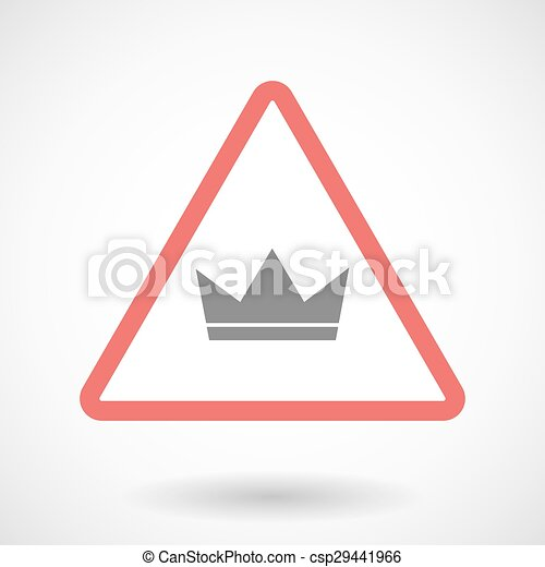Warning signal with a crown - csp29441966