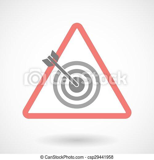 Warning signal with a dart board - csp29441958