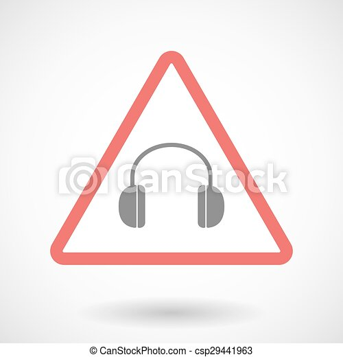 Warning signal with a earphones - csp29441963