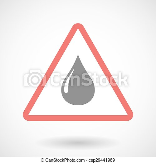 Warning signal with a fuel drop - csp29441989