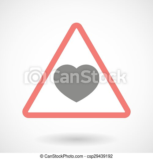 Warning signal with a heart - csp29439192