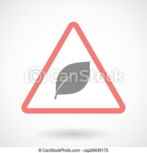 Warning signal with a leaf - csp29439170