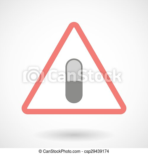 Warning signal with a pill - csp29439174