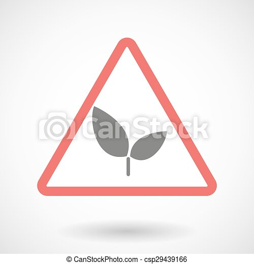 Warning signal with a plant - csp29439166