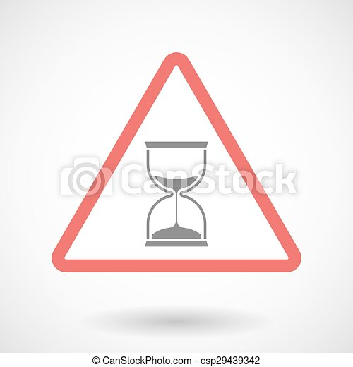 Warning signal with a sand clock - csp29439342