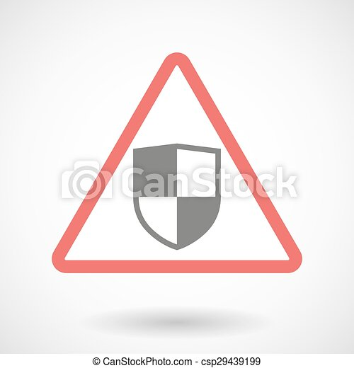 Warning signal with a shield - csp29439199