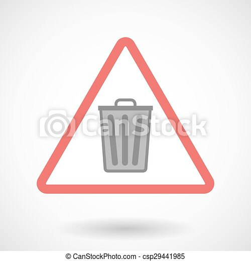 Warning signal with a trash can - csp29441985