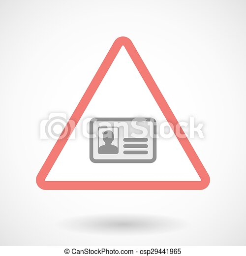 Warning signal with an id card - csp29441965