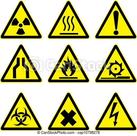 warning signs set 1 - csp10798278