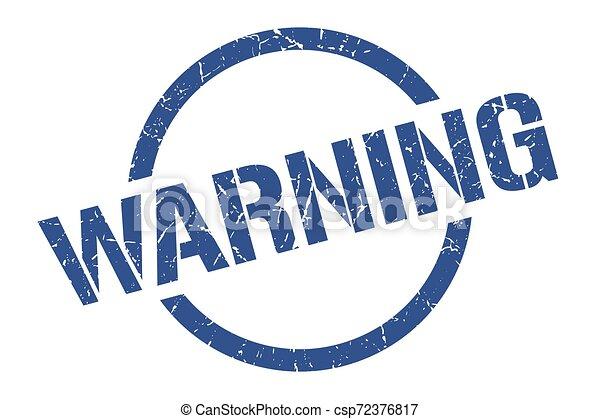 warning stamp - csp72376817