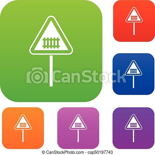 warnung, satz, straße, sammlung, zeichen - csp50197743