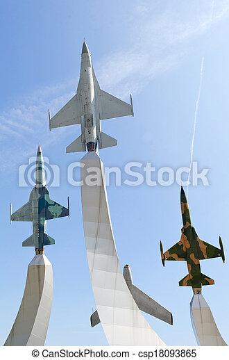 warplane monument - csp18093865