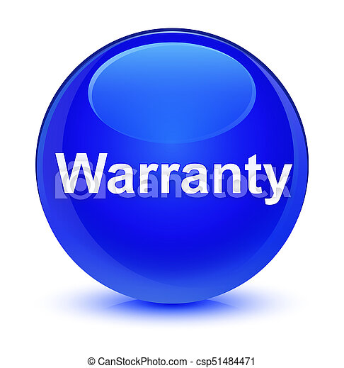Warranty glassy blue round button - csp51484471