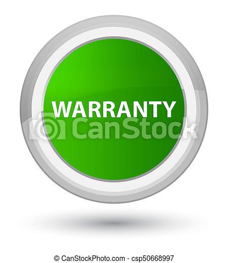 Warranty prime green round button - csp50668997