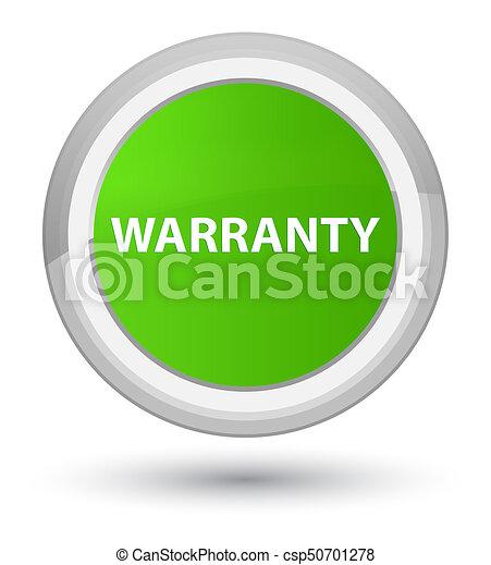 Warranty prime soft green round button - csp50701278
