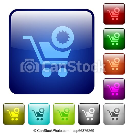 Warranty product purchase color square buttons - csp66376269