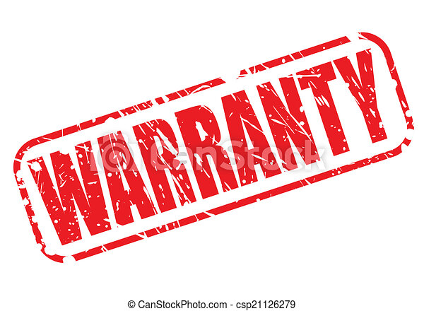 WARRANTY red stamp text - csp21126279