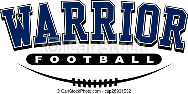 warrior football design with laces