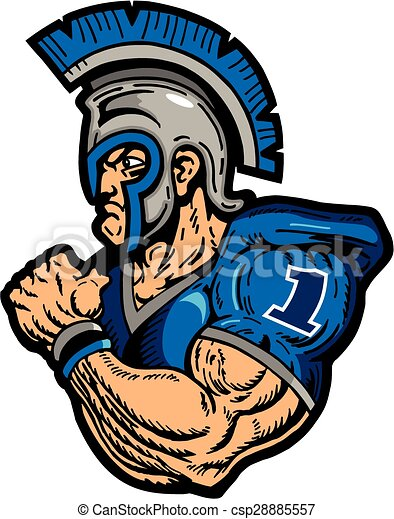 muscular warrior football player with helmet clipart vector search rh canstockphoto com warrior head clip art vector clipart of warriors