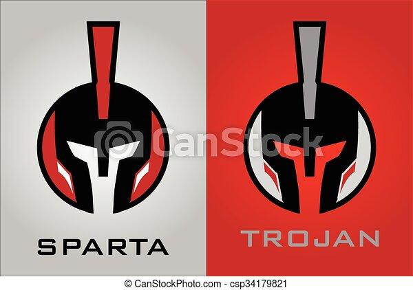 warrior head icon masked mascot warrior head warrior helmet
