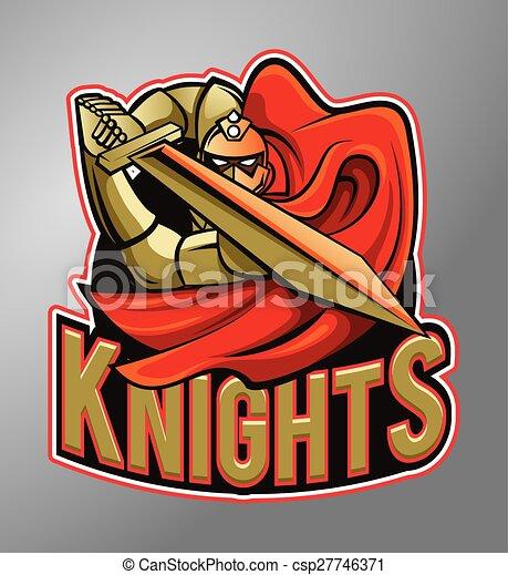 Warrior Knights Mascot - csp27746371