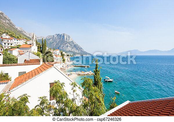 warte, schöne , auf, -, bucht, kroatien, brist, brist, dalmatien - csp67246326
