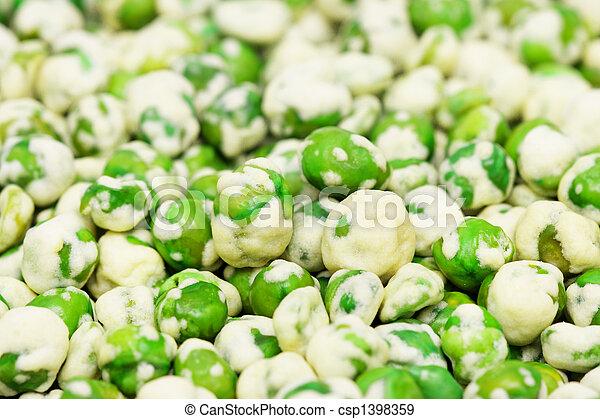 Wasabi Coated Green Peas - csp1398359