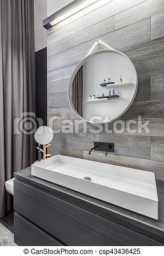 waschbecken, badezimmer, countertop