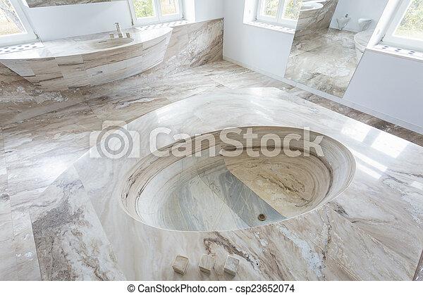 Waschbecken, Badezimmer, Marmor, Luxus   Csp23652074