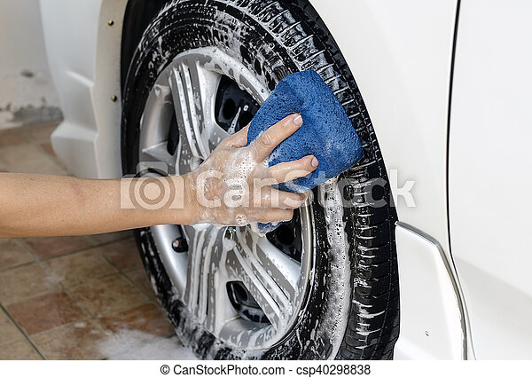 wash a car - csp40298838