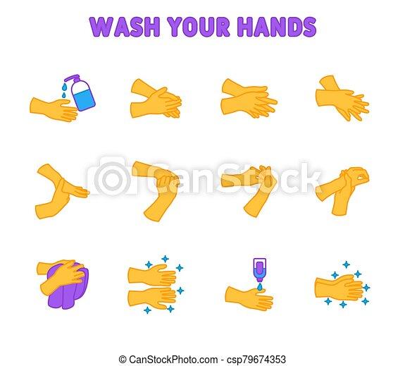Hands Washing Stock Illustrations – 11,207 Hands Washing Stock  Illustrations, Vectors & Clipart - Dreamstime