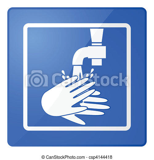 Wash hands sign - csp4144418