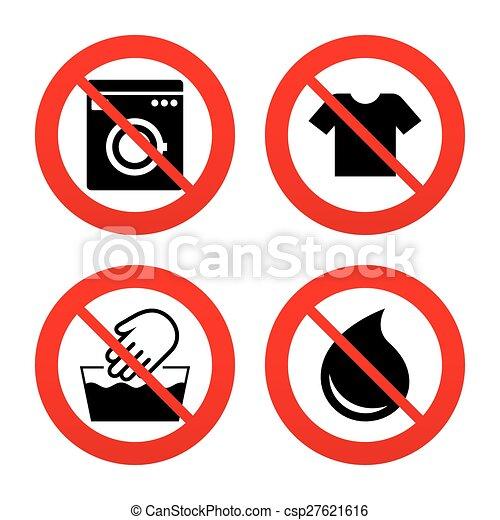 Wash Icon Not Machine Washable Symbol No Ban Or Stop Signs Wash