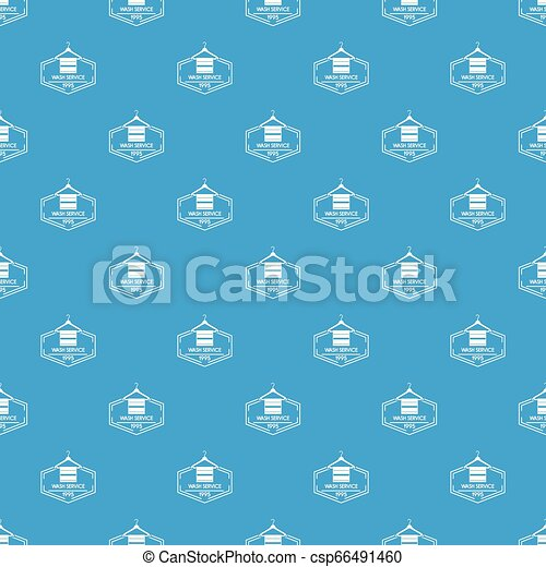 Wash service pattern vector seamless blue - csp66491460