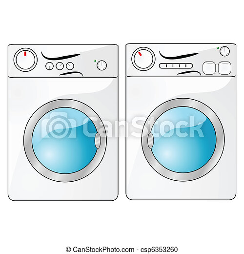 Washer And Dryer Illustration Of A Washing Machine Beside