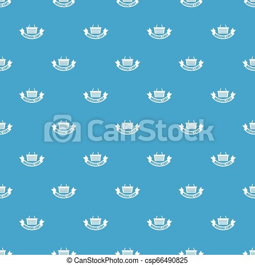 Washing cart pattern vector seamless blue - csp66490825