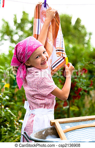 washing girl - csp2136908