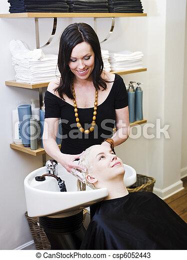 Washing Hair - csp6052443