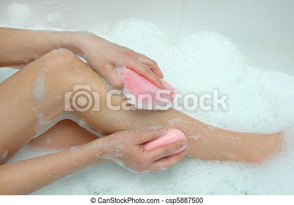 Washing legs - csp5887500
